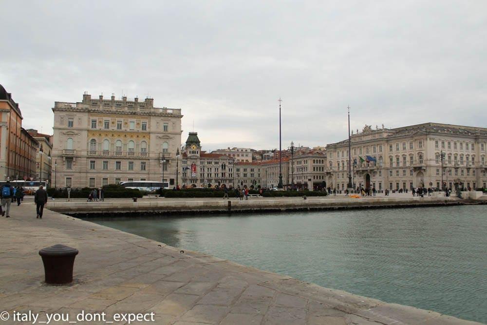 Molo audace piazza unità d'Italia
