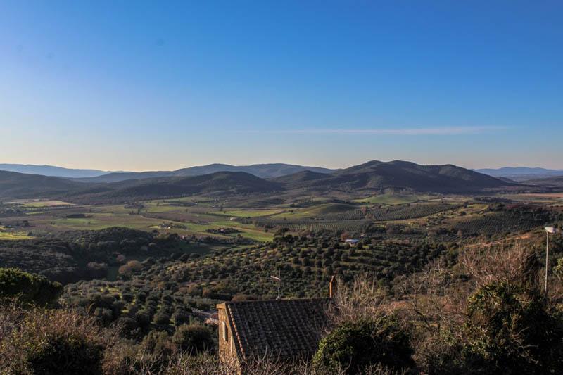 panorama colline maremma capalbio