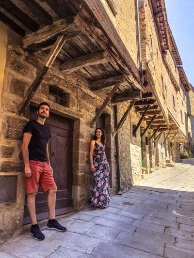 borgo di Cortona vicino Arezzo