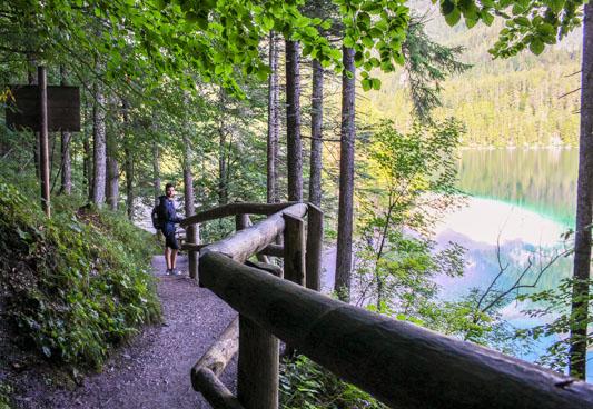 percorso lago di tovel