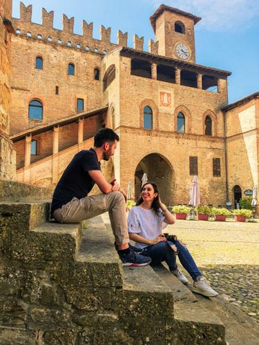 borgo di Castell'Arquato in Emilia-Romagna