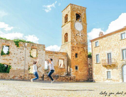 piazza dell'antico borgo di Celleno
