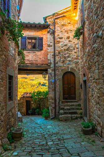 borgo di Montefioralle nel Chianti