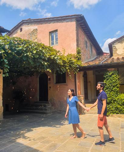 Piazzetta principale del borgo Il Borro