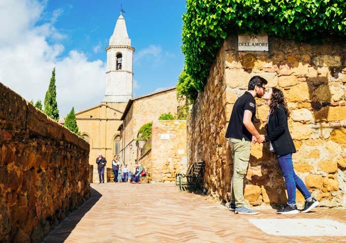 Via dell amore centro storico Pienza