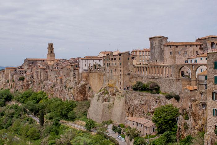 vista sul borgo di Pitiglianio