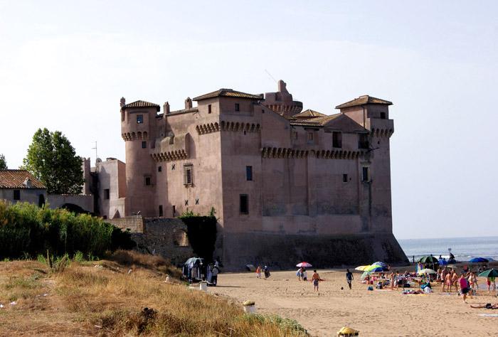 Castello santa severa vicino roma