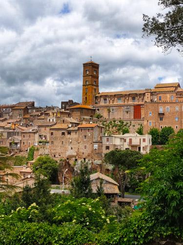 vista di sutri da Villa Savorelli