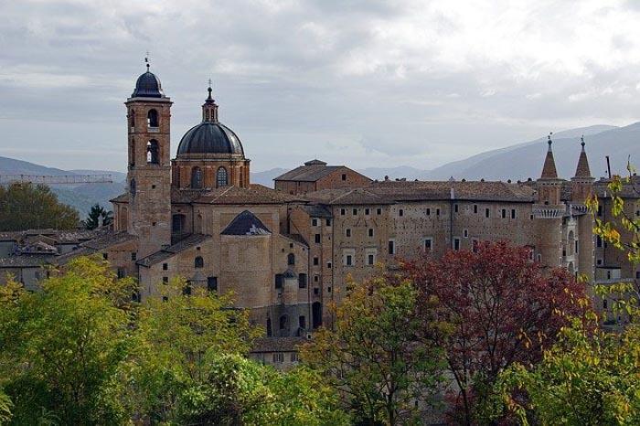 Vista su Palazzo Ducale dal Parco della Resistenza di Urbino