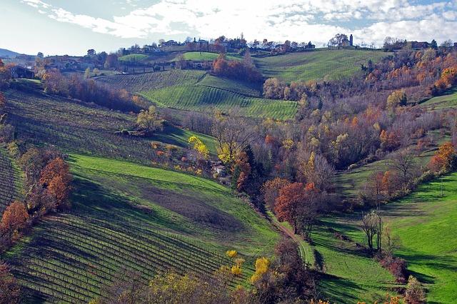 foliage in emilia romagna langirano colli piacentini